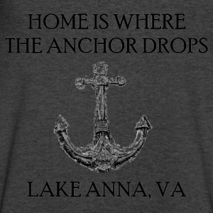 Lake Anna Virginia Where The Anchor Drops Long Sleeve Shirts - Men's V-Neck T-Shirt by Canvas
