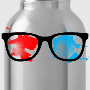 Geek Glasses Paint Splatter - Water Bottle