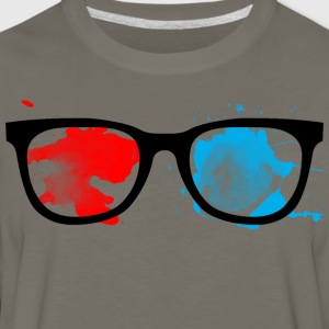Geek Glasses Paint Splatter - Men's Premium Long Sleeve T-Shirt