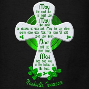 Nashville Irish Blessing Cross Tote Bags - Men's T-Shirt