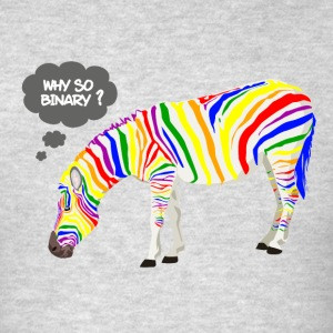 Rainbow Zebra Hoodies - Men's T-Shirt