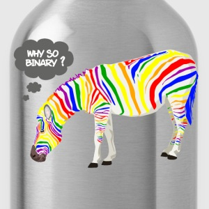 Rainbow Zebra T-Shirts - Water Bottle