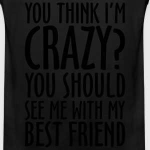 CRAZY BEST FRIEND - Men's Premium Tank