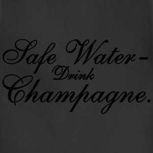 Save Water drink Champagn Women's T-Shirts - Adjustable Apron