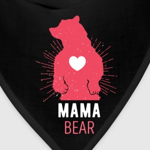 Gift for Moms Mama Bear Mother's Day T Shirt Women's T-Shirts - Bandana