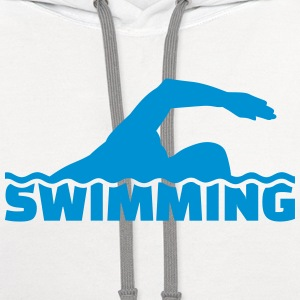 Swimming T-Shirts - Contrast Hoodie