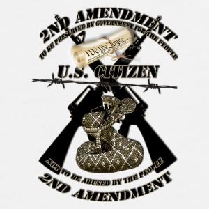2nd amendment black crossed m16s and rattlesnake1A Mugs & Drinkware - Men's Premium T-Shirt