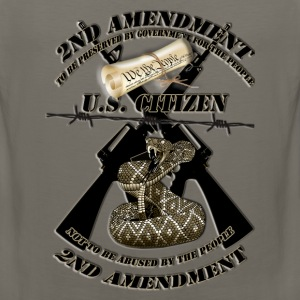 2nd amendment black crossed m16s and rattlesnake1A Long Sleeve Shirts - Men's Premium Tank