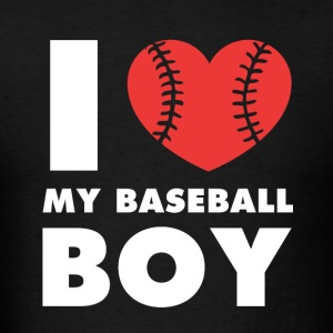 I love my baseball boy Baseball T Shirt Tank Tops - Men's T-Shirt
