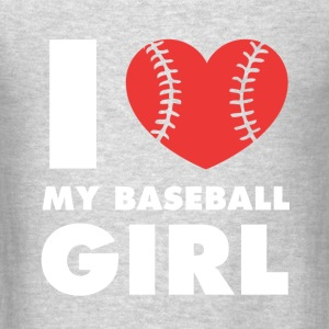 I love my baseball girl Baseball T Shirt Tanks - Men's T-Shirt