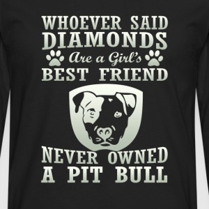 Pit Bull Are The Best Friend - Men's Premium Long Sleeve T-Shirt