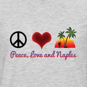 peace love and naples T-Shirts - Men's Premium Long Sleeve T-Shirt