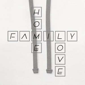 Home Family Love - Contrast Hoodie