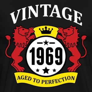 Vintage 1969 Aged to Perfection Hoodies - Men's Premium T-Shirt