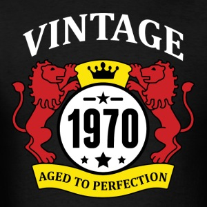 Vintage 1970 Aged to Perfection Hoodies - Men's T-Shirt