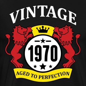 Vintage 1970 Aged to Perfection Hoodies - Men's Premium T-Shirt