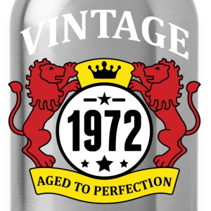 Vintage 1972 Aged to Perfection T-Shirts - Water Bottle