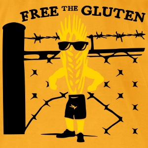 Free the Gluten - Men's T-Shirt by American Apparel