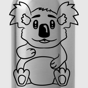 sweet cute little koala bear sitting fat T-Shirts - Water Bottle