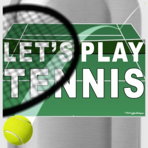 Let's Play Tennis T Shirts, Green Women's T-Shirts - Water Bottle