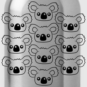 sweet little cute koala head face pattern design T-Shirts - Water Bottle