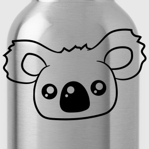 sweet little cute koala head face T-Shirts - Water Bottle