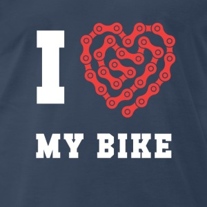 Cyclists I love my bike Cycling T Shirt Tanks - Men's Premium T-Shirt