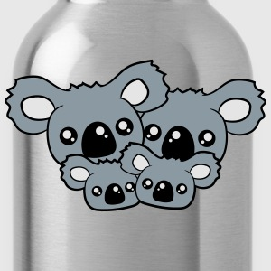 sweet little baby koala cute mamapapa 2 children c T-Shirts - Water Bottle