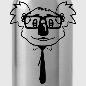 nerd geek nerd ties hornbrille pimple freak face h T-Shirts - Water Bottle