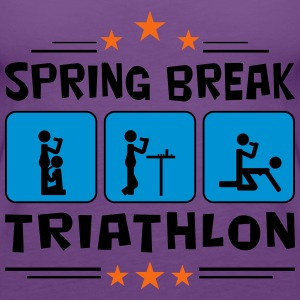 spring break triathlon Women's T-Shirts - Women's Premium Tank Top
