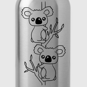 2 sweet little cute koalas grapple buddies team co T-Shirts - Water Bottle