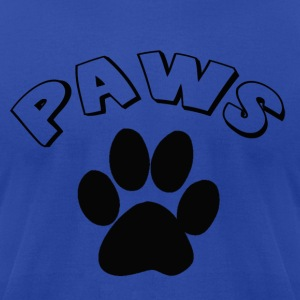 PAWS - Men's T-Shirt by American Apparel
