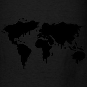 World Maps Graffiti Hoodies - Men's T-Shirt