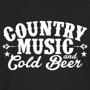 Country Music and Cold Beer - Men's Premium Long Sleeve T-Shirt