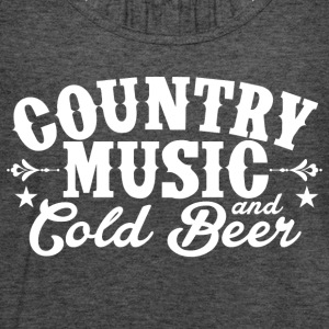 Country Music and Cold Beer - Women's Flowy Tank Top by Bella