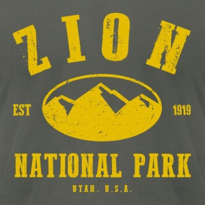 Zion National Park Hoodies - Men's T-Shirt by American Apparel