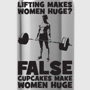 Cupakes Make Women Huge, Not Lifting Women's T-Shirts - Water Bottle