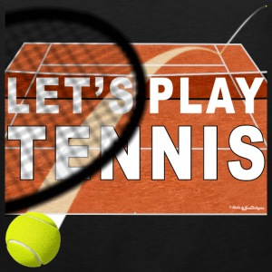 Let's Play Tennis T Shirts, Clay Court Baby Bodysuits - Men's Premium Tank