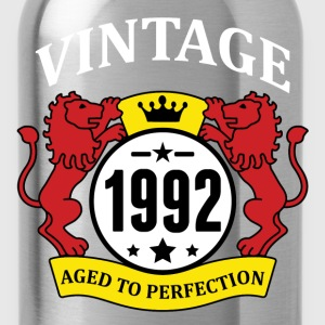 Vintage 1992 Aged to Perfection T-Shirts - Water Bottle