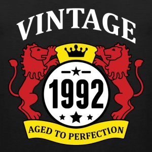 Vintage 1992 Aged to Perfection T-Shirts - Men's Premium Tank