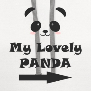 My Lovely Panda MAN WOMAN COUPLE T-Shirts - Contrast Hoodie