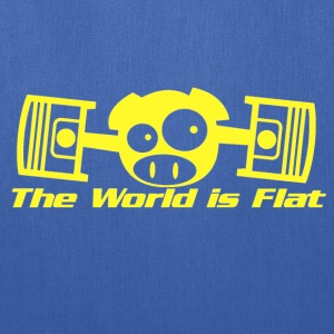 The World Is Flat Rally Pig T-Shirts - Tote Bag