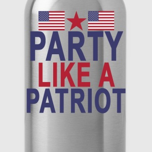 party_like_a_patriot - Water Bottle