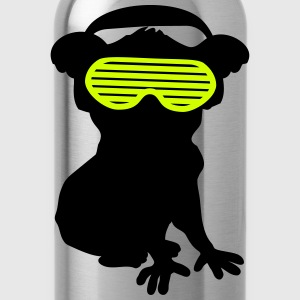 celebrate party music dj silhouette glasses headph T-Shirts - Water Bottle