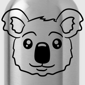 head koala face sweet cute T-Shirts - Water Bottle