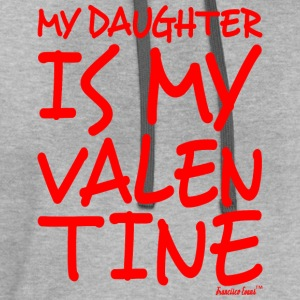 My Daughter is my Valentine, Francisco Evans ™ T-Shirts - Contrast Hoodie
