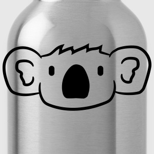 koala face head sweet cute happy comic T-Shirts - Water Bottle