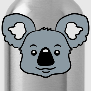 head koala face sweet cute happy T-Shirts - Water Bottle