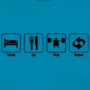 Sleep Eat WOD Repeat  - Women's T-Shirt