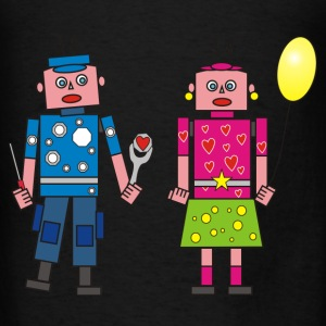 robot couple Bags & backpacks - Men's T-Shirt